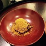 日本料理 太月 - 赤飯唐墨かけ(お店からお祝いの一品)2015-3