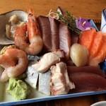 男鹿海鮮料理 三代目ほたる - 特刺身定食 刺身アップ