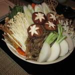 松吟庵 - お鍋の野菜