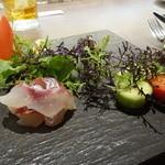 Ristorante Heiju - ☆前菜は鯛と鰆と塩トマトといろいろなお野菜たち☆