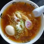 食堂 はせ川 - 醤油かけ+煮卵(¥550+100)