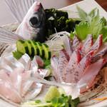 かとう - 本日の刺身 ※写真は、とび魚の刺身