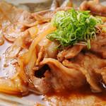 かとう - 豚生姜ソース掛け