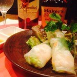 Bar&Dining T BAR - 小海老とたっぷり野菜の生春巻き