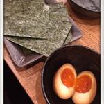 麺屋 ふう - ノリ 味玉 2015.3