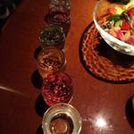 りとりいと - 日本酒飲み比べ