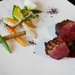 36062221 - フランス産鴨ムネ肉のロースト ブルーベリーとジュトカナールのソース