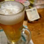 立ち飲み 小島 - 2015.03 ホッピーがナカソト各300円だったので生ビールにしました(400円)
