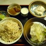 玄米ハウス ひろ作 - ワサビ丼♪イワシ節がかけられてます♪ツンとした感があまりなく、まろやかなワサビ♪2015年1月