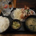 博多屋台風酒場 うおっしょい! - 鶏天定食 てりマヨ ¥500-