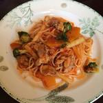 36068342 - とり肉と野菜の煮込みトマトソース