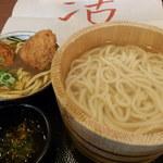 丸亀製麺 - 釜揚げうどん特盛(2玉)480円