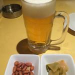 36068575 - 生ビール(つまみ付 550円)