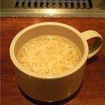 焼肉 じばご - 玉子スープ