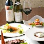 euro dining claret - 料理写真:ディナーコースの一例。¥5,000 フォワグラや和牛の入ったコースなのにリーズナブル。