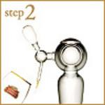 step2:専用サーバーでグラスを冷やします