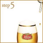 step5:タップを閉じグラスを離します