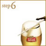 step6:フォームカッターで泡を切ります