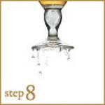 step8:シンクで周りに付いた泡を落とします