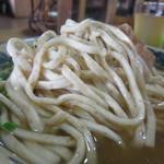 36076660 - 麺は、胚芽入りで、灰汁を使った昔ながらの製法で打った自家製の平打ち麺