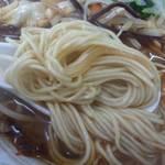 だんだん亭 - 辛口ラーメンの麺です