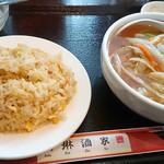 36085564 - サンマー麺+半チャーハン(ランチメニュー)
