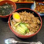 霞舫 - 「魯肉飯+餃子セット」680円