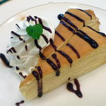 喫茶 グリーン - ミルクレープセット750円