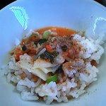 ラ-メン 薫風 - 締めのスープ掛け御飯