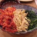 魚屋海老蔵 - キムチとナムル