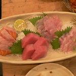 魚屋海老蔵 - 刺身盛り合わせ