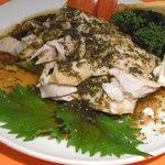 3610666 - 蒸し鶏の葱山椒ソース掛け(\1,260)