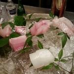 36102705 - 付だし→刺身盛合せ→鮃・真鯛・ホウボウ・イサギ・太刀魚