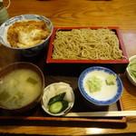 田代庵 - 料理写真:カツ丼ともりそばのランチセット1000円
