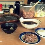 天ぷら はまや - 無料のイカの塩辛と漬物