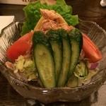 鳥伊勢 - 2015年3月21日の野菜サラダ