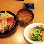 魚菜しばた - 海鮮丼&野菜ビュッフェ ¥980