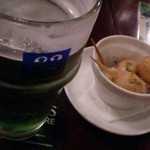 36105838 - グリーンビールとうずらエッグフライ