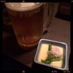 36107767 - 生ビール&たまご豆腐