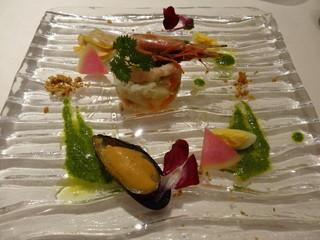 リストランテ サクラ - 本ビノス貝と海鮮のサラダ仕立て