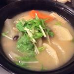 江戸前寿司 ちかなり - お野菜の味噌汁