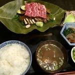 36115334 - 朴葉味噌焼き定食