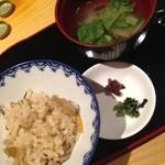 北の魚づくし - 炊き込み御飯&味噌汁