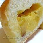 36117612 - 薩摩カスター。カスタードクリームにサツマイモの角切りが入ってます^^