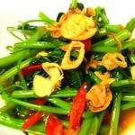 空芯菜のタオチオ炒め
