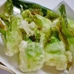 酒彩 羽々和 - つぼみ菜天ぷら