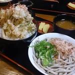 36126465 - 2015年3月 かき揚げ丼定食(おろしそば太麺)