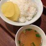 フクロウ餃子 - ライス スープ付