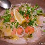 PIZZERIA E BAR BOSSO - 旬の鮮魚のカルパッチョ【2015年3月】