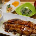 sakura食堂 - さんまの蒲焼き&とろろ定食【2015年3月】